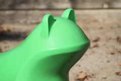 Playground Frog. A Green Frog in a childrens playground Stock Photos