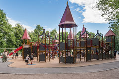 Playground in Frogner Park in Oslo Royalty Free Stock Photo