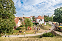 Playground in front of Varazdin Old City Stock Image