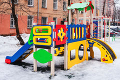 Playground for fun games and children`s education Royalty Free Stock Images