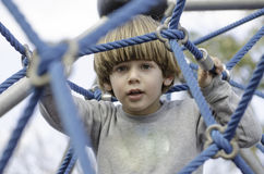 Playground fun with ropes Stock Image