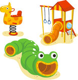 Playground games. Park Playground Equipment set for Children Playing Stations  illustration Royalty Free Stock Image