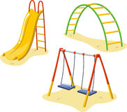 Playground games 2. Park Playground Equipment set for Children Playing Stations  illustration Stock Image