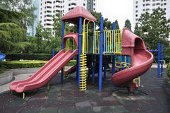 Playground in garden Stock Photo