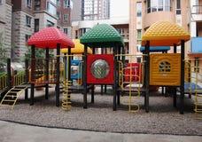 Playground in garden Stock Image