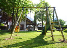 Playground in the garden Royalty Free Stock Photography