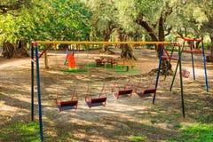 Playground in a garden Royalty Free Stock Photos
