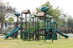 Playground  in the garden. At  Somdet Phra Srinagarindra Public Park,Chachoengsao Province,Thailand Stock Images