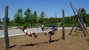 Playground at Governors Island in New York Royalty Free Stock Images