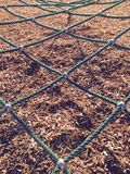 Playground gym rope diagonal pattern Stock Images