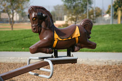 Playground horse Royalty Free Stock Photo