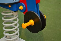 playground-horse-detail Royalty Free Stock Images