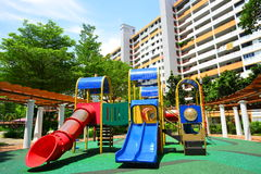 Playground and housing of Singapore landscape Royalty Free Stock Photos