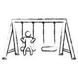 Playground icon image Royalty Free Stock Photography