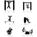 Playground icons Stock Image