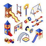 Playground Icons Set Royalty Free Stock Photography