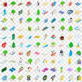 100 playground icons set, isometric 3d style Royalty Free Stock Images