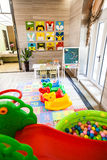 Playground indoor. A playground in the room Stock Image