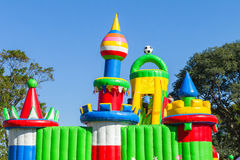 Playground Inflatable Castle Stock Photo
