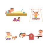 Playground infographic elements vector illustration