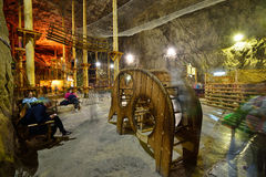 Playground inside the Praid salt mine from Transylvania. Picture taken on: August 28th, 2015 at Praid, Romania Royalty Free Stock Photos