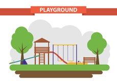 playground insieme degli elementi per la costruzione illustrazione di stock