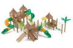 Playground isolated Royalty Free Stock Images