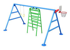 Playground isolated on white background. 3d rendering Royalty Free Stock Photo