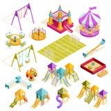 Playground Isometric Collection Stock Photo