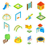 Playground isometric 3d icons Royalty Free Stock Photography
