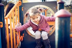 playground Jour pour l'amusement dans le terrain de jeu Photographie stock