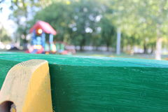 Playground for kids. Children's playground in the city park Royalty Free Stock Photo