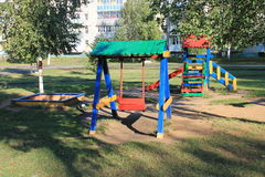 Playground for kids. Children's playground in the city park Stock Photography