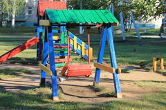 Playground for kids. Children's playground in the city park Stock Image