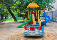 Playground of kindergarten Stock Images