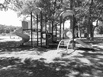 Playground. Large piece of playground equipment in black and white stock photos