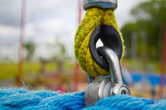 PlayGround Lock Closeup. Photograph of a security safety lock found on a playground Royalty Free Stock Image