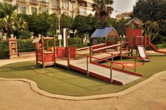Playground  in Malaga spain Stock Photo
