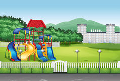 Playground in the middle of the field Royalty Free Stock Image