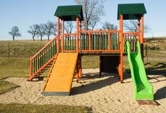 Playground in nature Royalty Free Stock Images