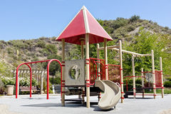Playground in a New Park. New playground found in a residential neighborhood Stock Image