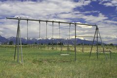 Playground in Old Montana Royalty Free Stock Photography