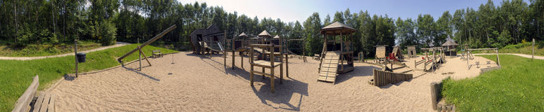 Playground panorama royalty free stock photo