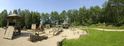 Playground panorama stock photography