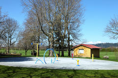 Playground in a park. royalty free stock photos