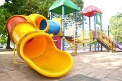 Playground at the park. For children Royalty Free Stock Image