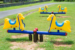 Playground in the park Royalty Free Stock Image