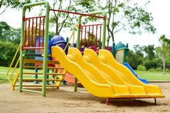 Playground at the park. For children Stock Photos