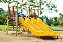 Playground at the park Stock Photos
