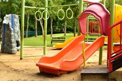 Playground at the park. For children Royalty Free Stock Photo